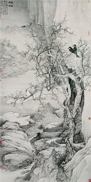 《早春幽静图》金杰 入选八大山人花鸟画展